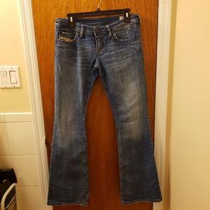 Diesel Low Rise Bell Bottom Jeans - Size 27